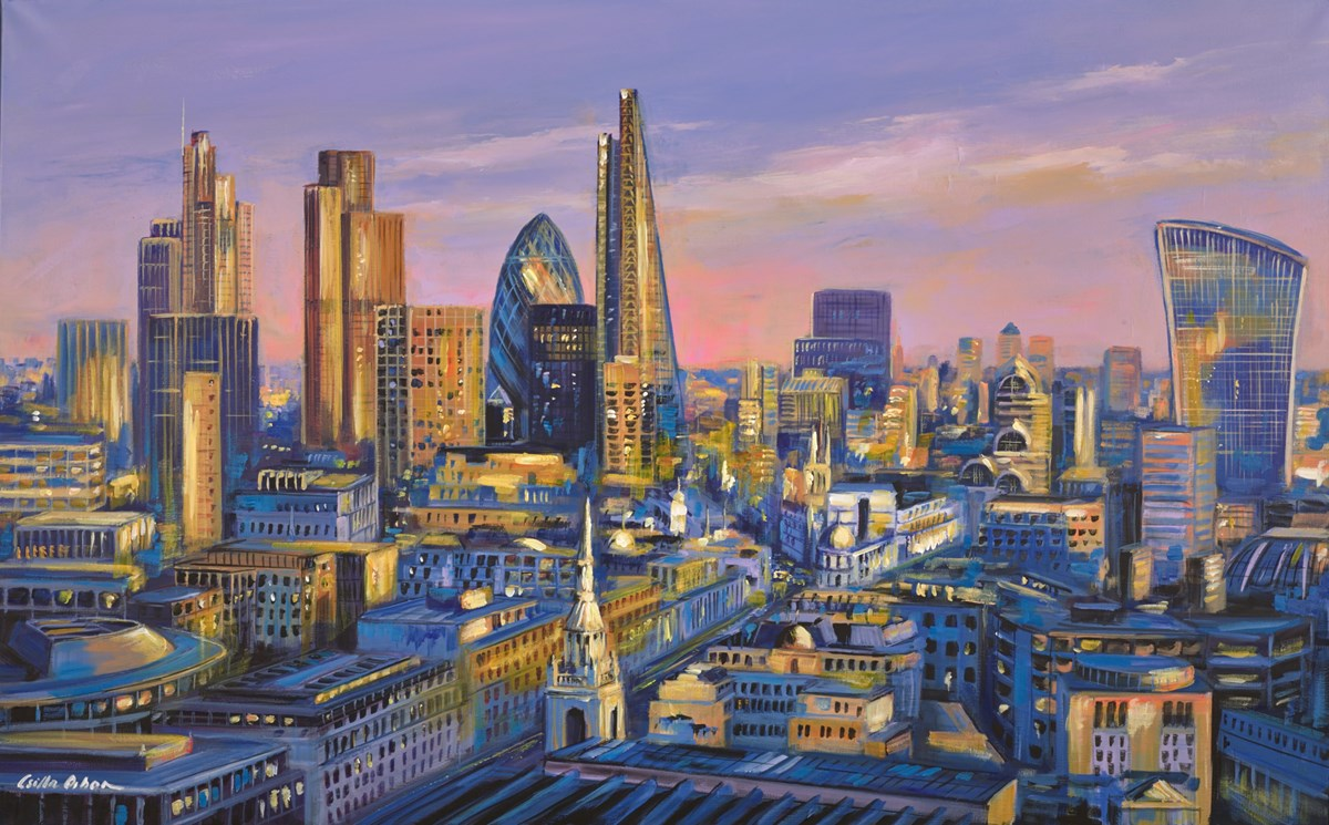 London View  by csilla orban -  sized 48x30 inches. Available from Whitewall Galleries